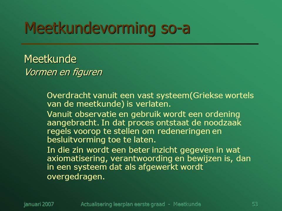 Meetkundevorming so-a
