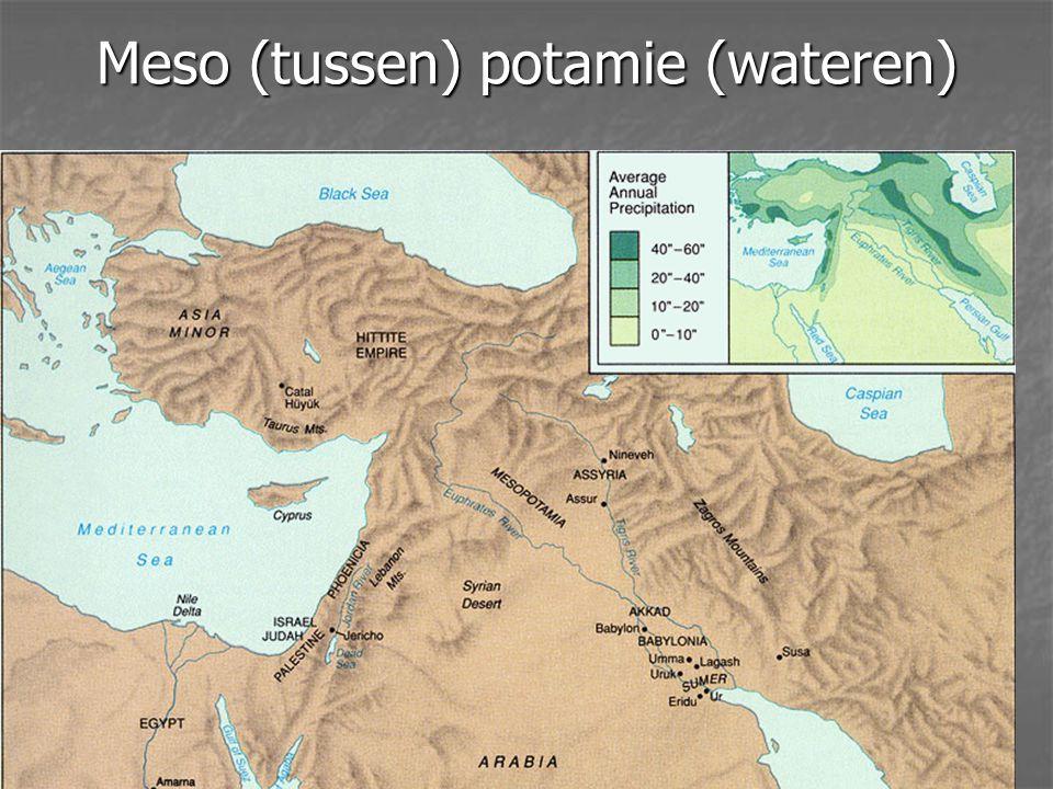 Meso (tussen) potamie (wateren)