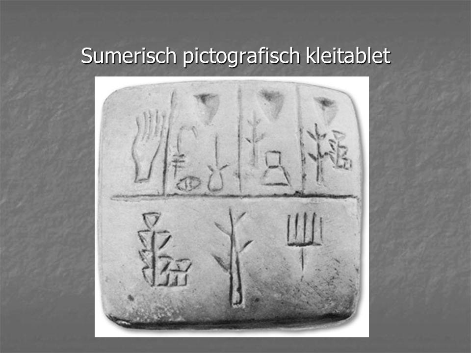Sumerisch pictografisch kleitablet