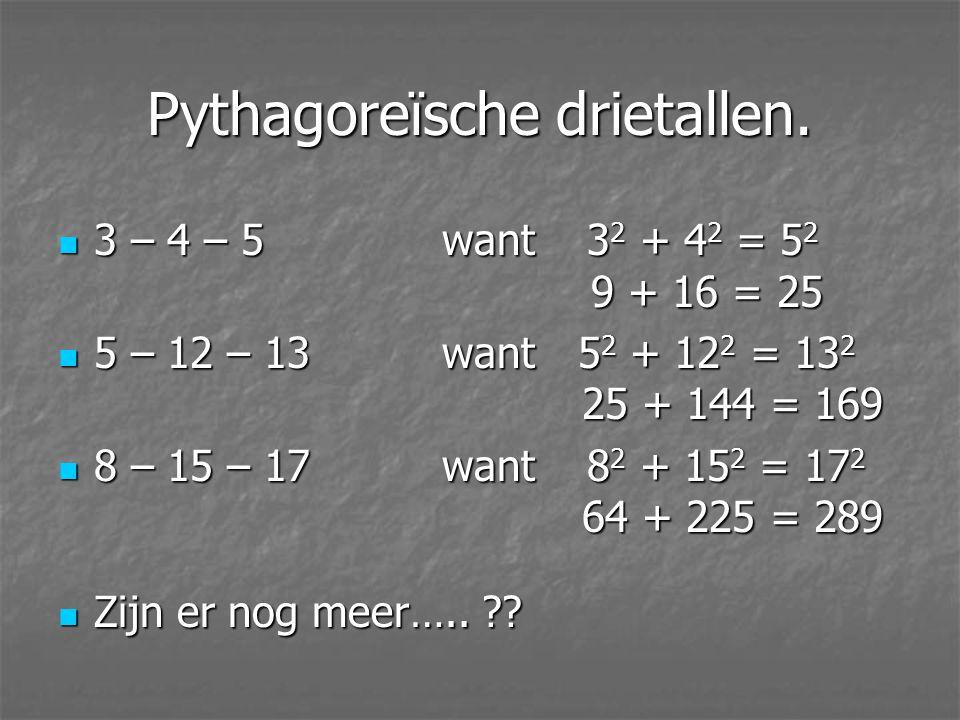 Pythagoreïsche drietallen.