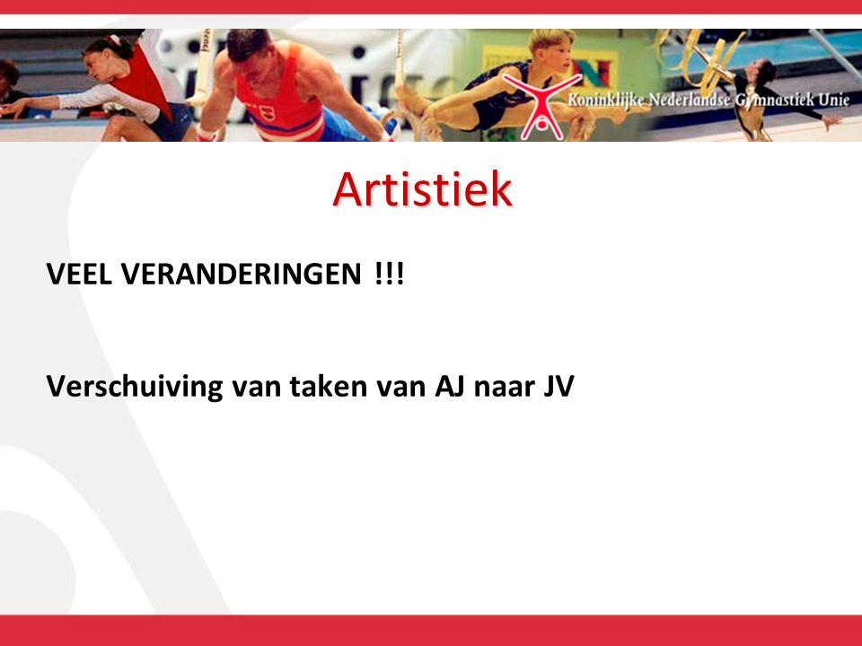 Artistiek VEEL VERANDERINGEN !!! Verschuiving van taken van AJ naar JV
