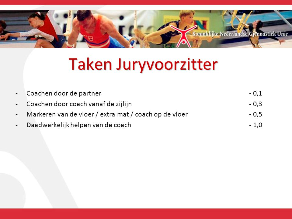 Taken Juryvoorzitter Coachen door de partner - 0,1
