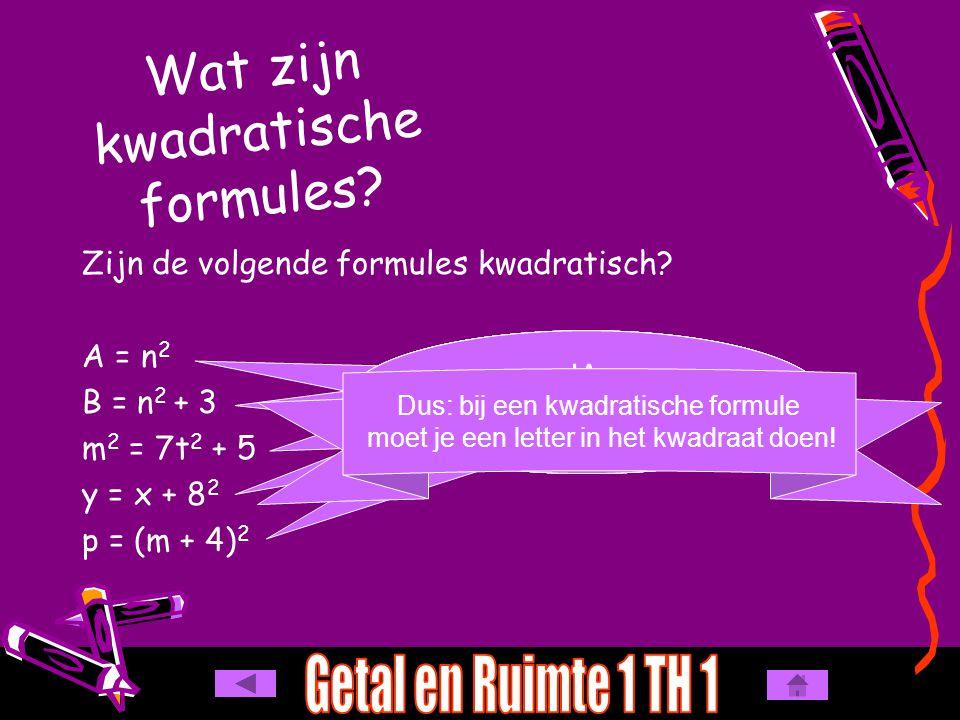 Wat zijn kwadratische formules