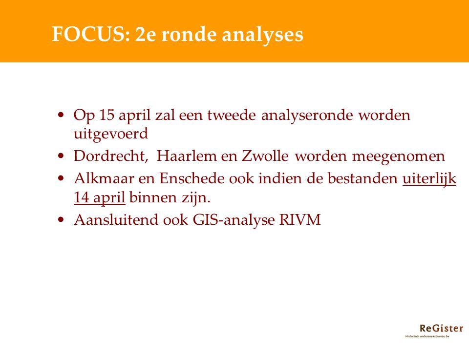 FOCUS: 2e ronde analyses