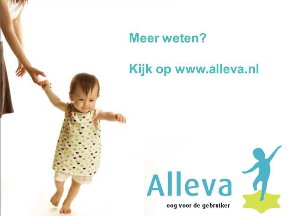Meer weten Kijk op www.alleva.nl