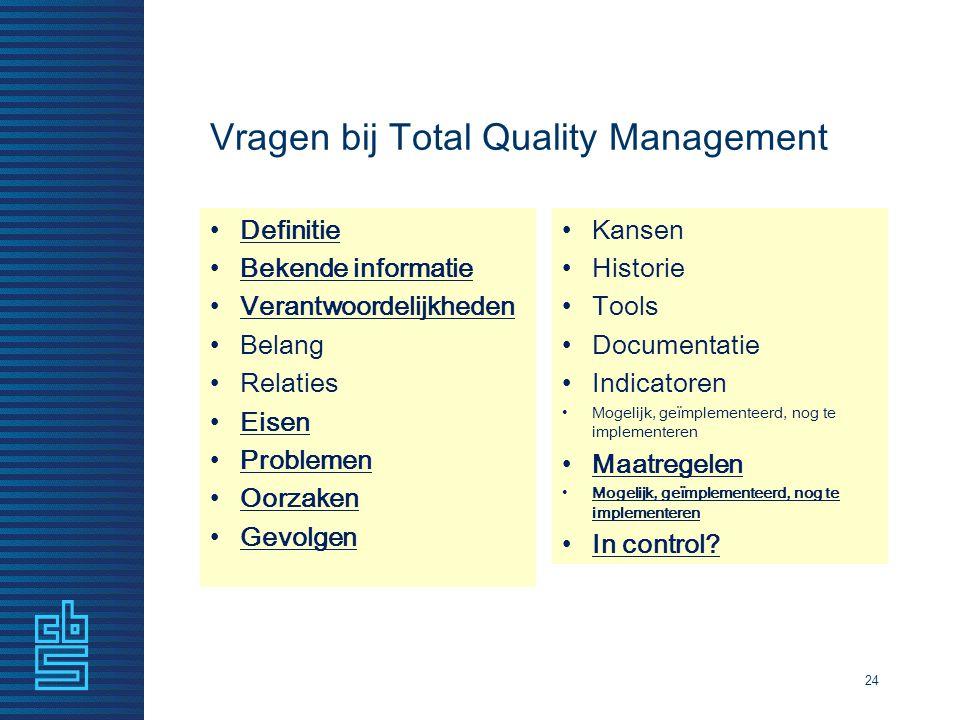 Vragen bij Total Quality Management