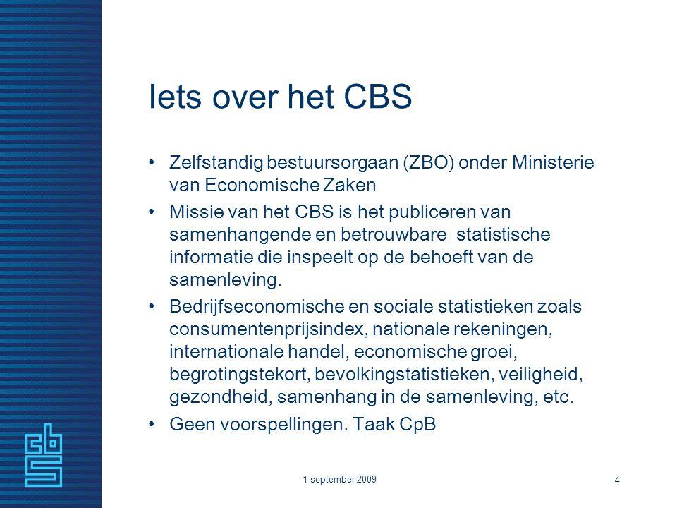Iets over het CBS Zelfstandig bestuursorgaan (ZBO) onder Ministerie van Economische Zaken.