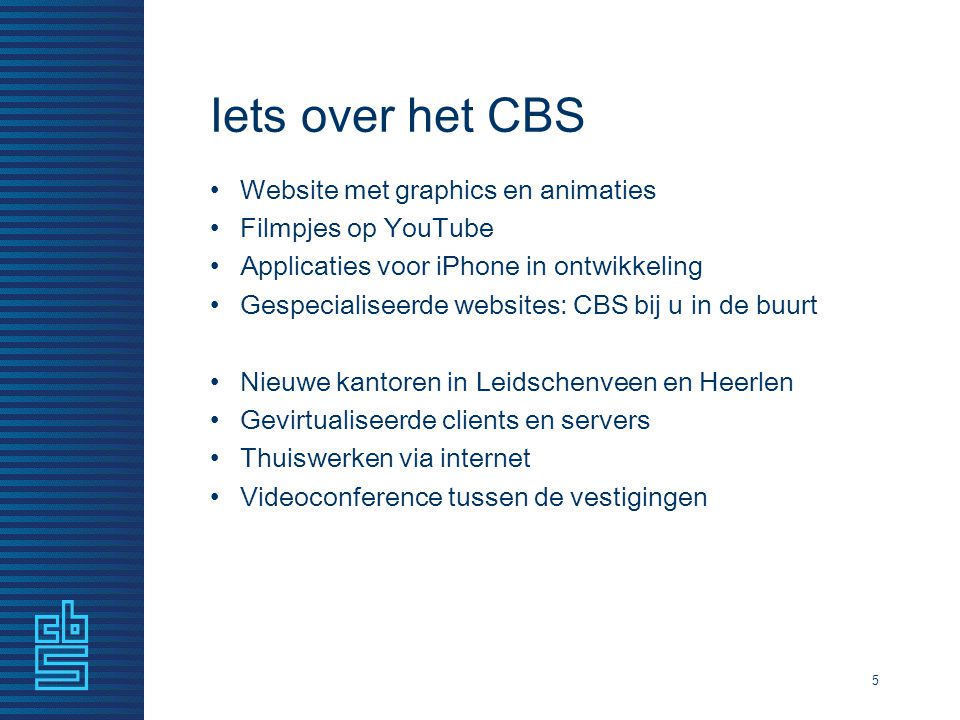 Iets over het CBS Website met graphics en animaties