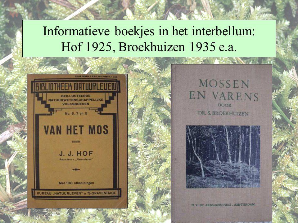 Informatieve boekjes in het interbellum: Hof 1925, Broekhuizen 1935 e