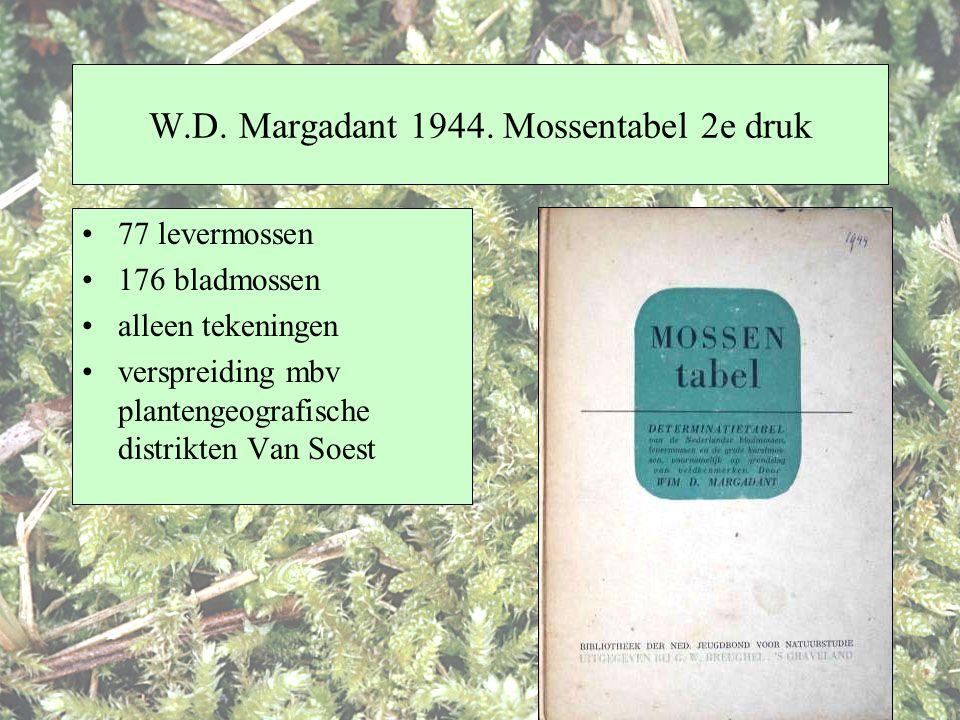 W.D. Margadant 1944. Mossentabel 2e druk
