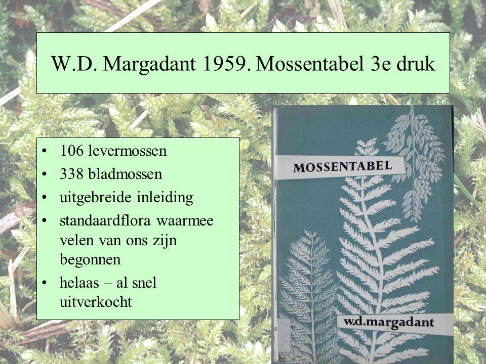 W.D. Margadant 1959. Mossentabel 3e druk