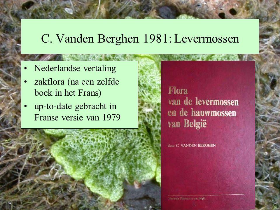 C. Vanden Berghen 1981: Levermossen