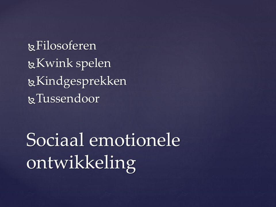 Sociaal emotionele ontwikkeling