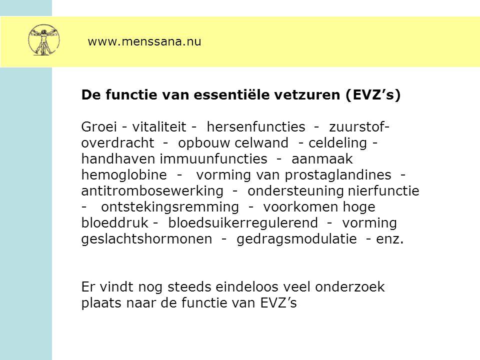 De functie van essentiële vetzuren (EVZ's)