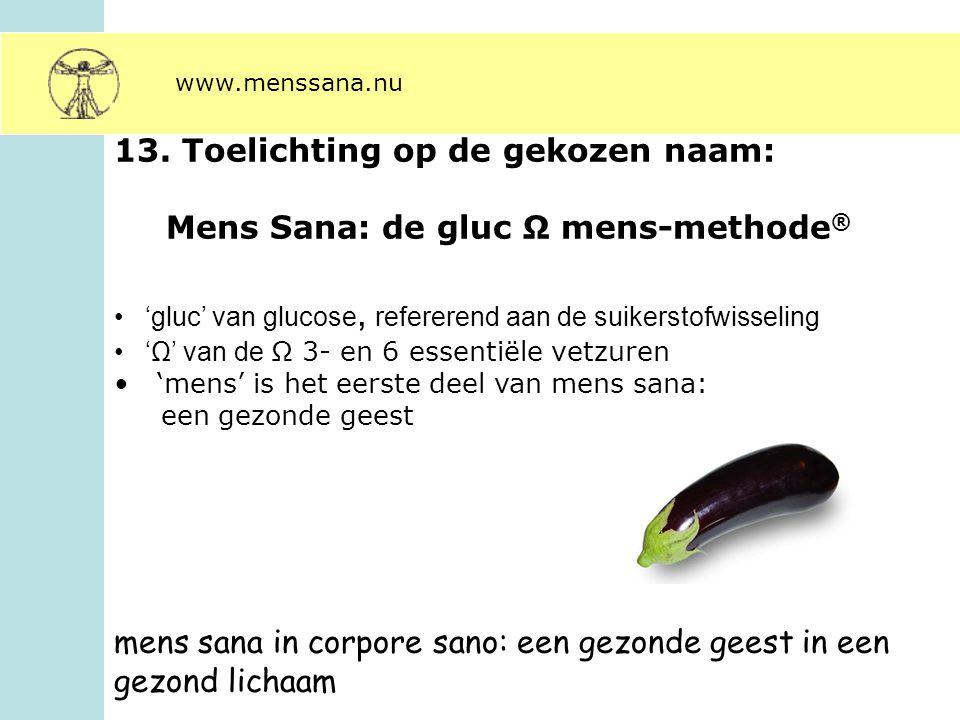Mens Sana: de gluc Ω mens-methode®