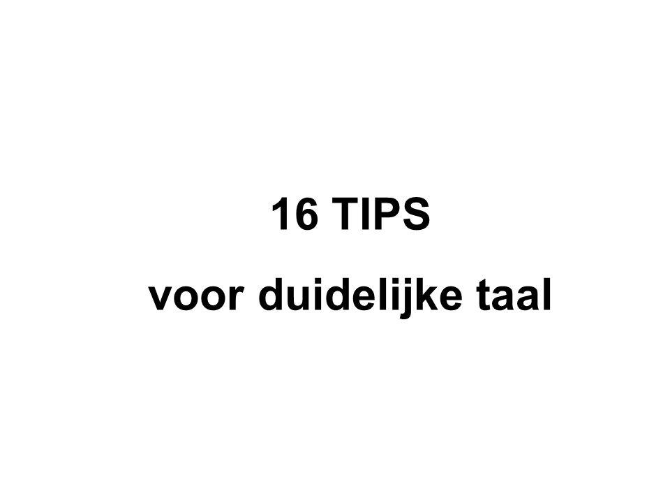 16 TIPS voor duidelijke taal