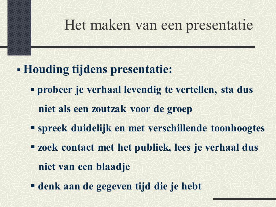 Het maken van een presentatie