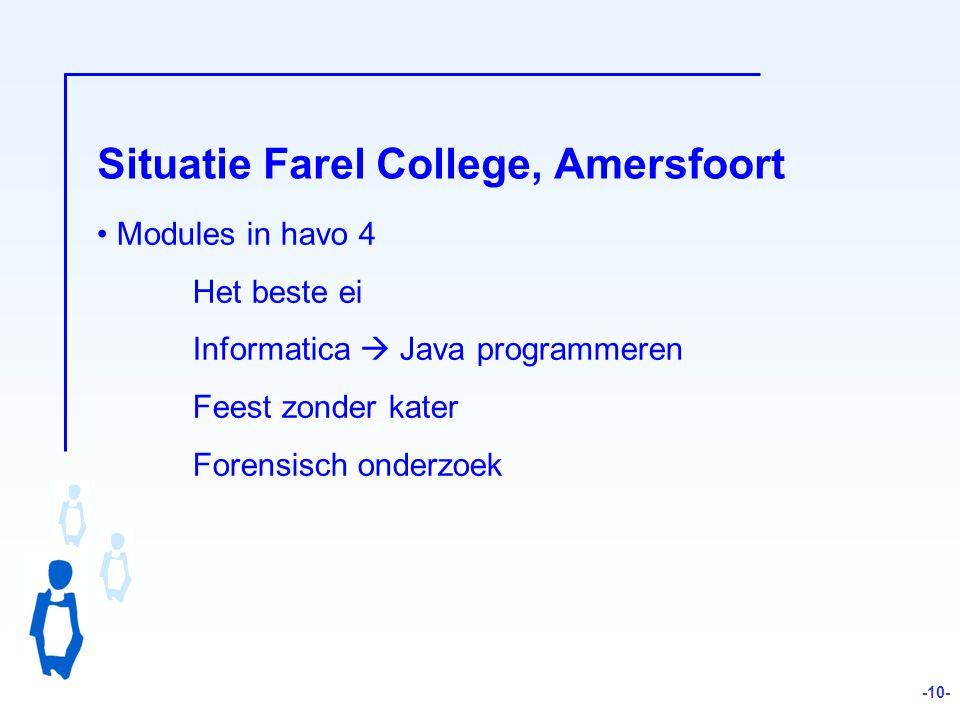 Situatie Farel College, Amersfoort