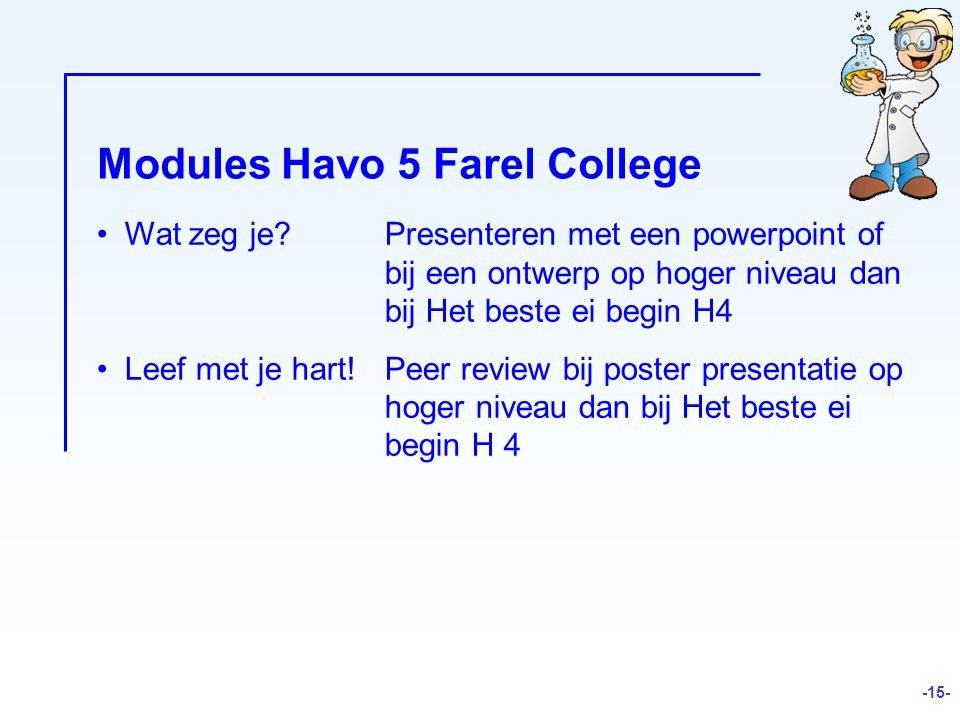 Modules Havo 5 Farel College
