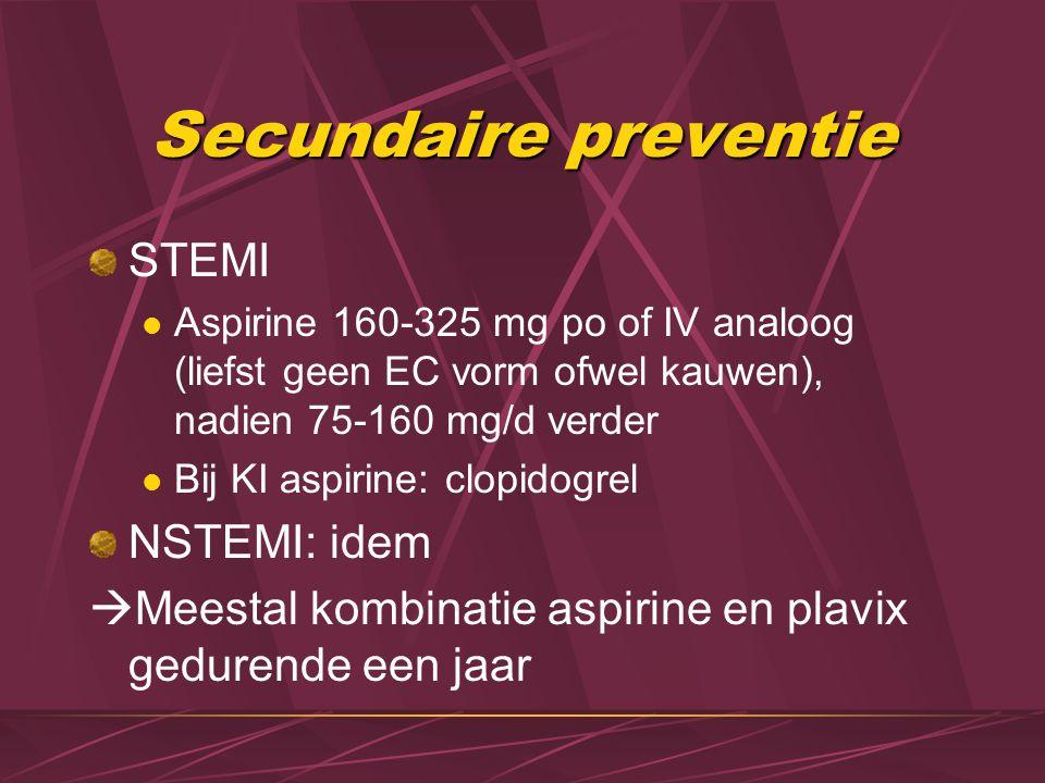 Secundaire preventie STEMI NSTEMI: idem