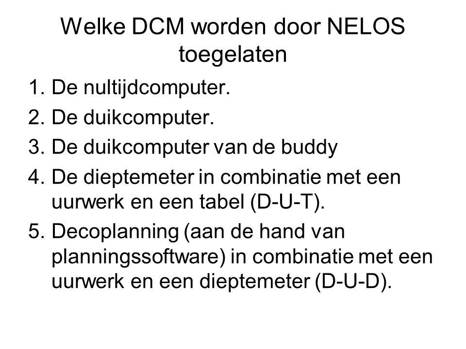 Welke DCM worden door NELOS toegelaten