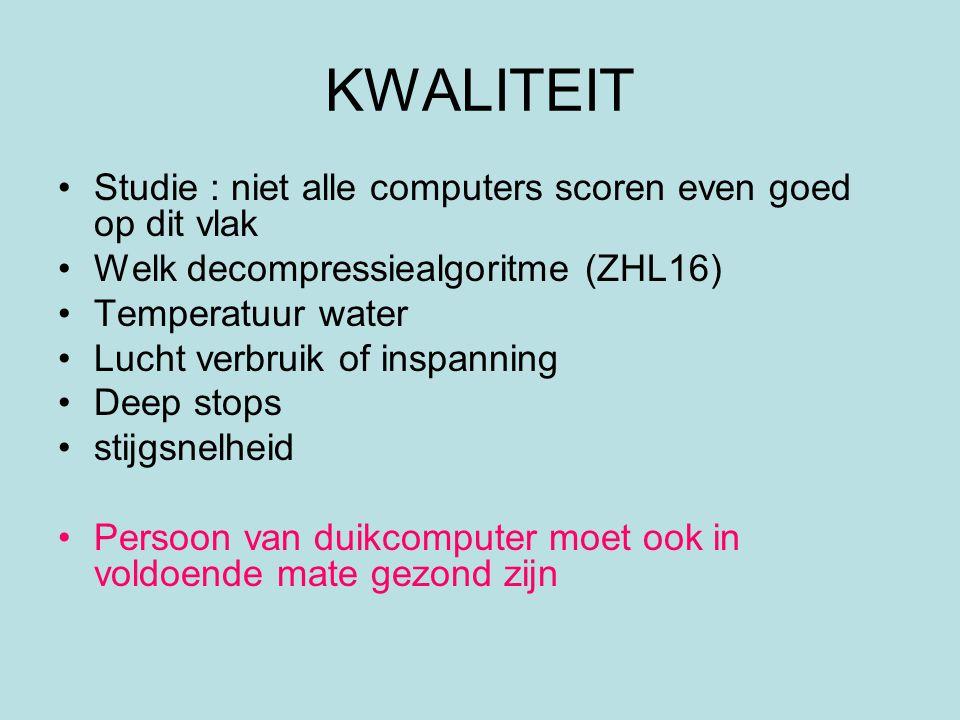 KWALITEIT Studie : niet alle computers scoren even goed op dit vlak