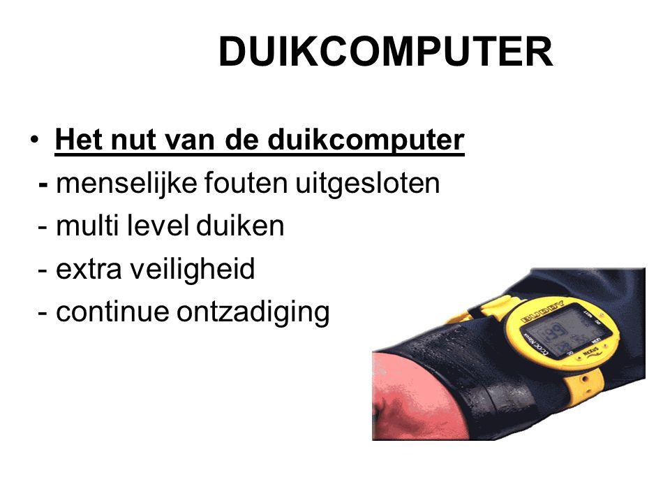 DUIKCOMPUTER Het nut van de duikcomputer