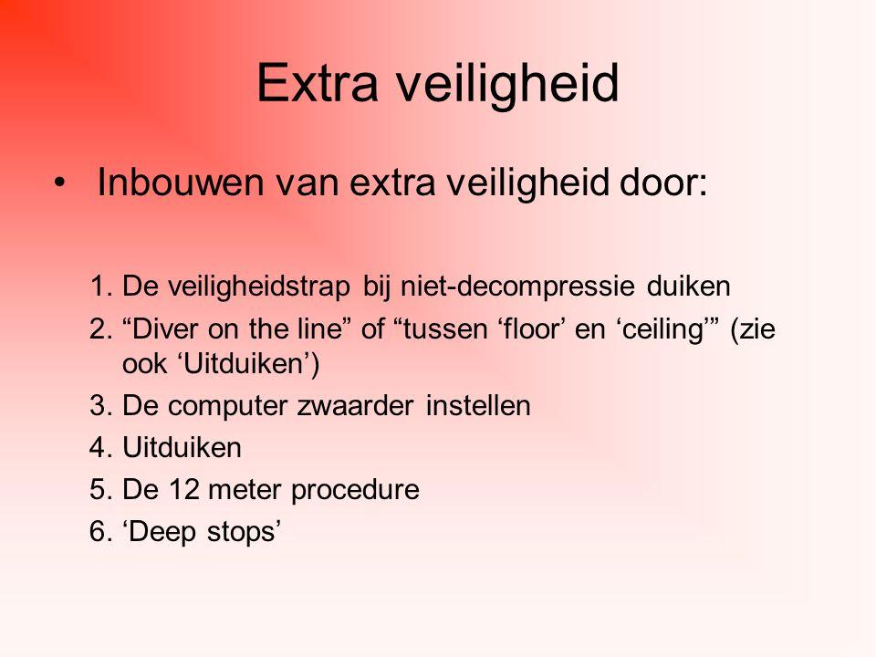 Extra veiligheid Inbouwen van extra veiligheid door: