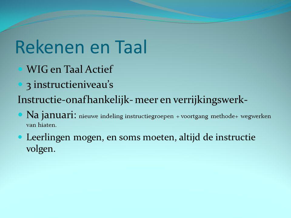 Rekenen en Taal WIG en Taal Actief 3 instructieniveau's