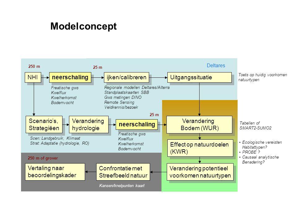 Modelconcept NHI neerschaling ijken/calibreren Uitgangssituatie