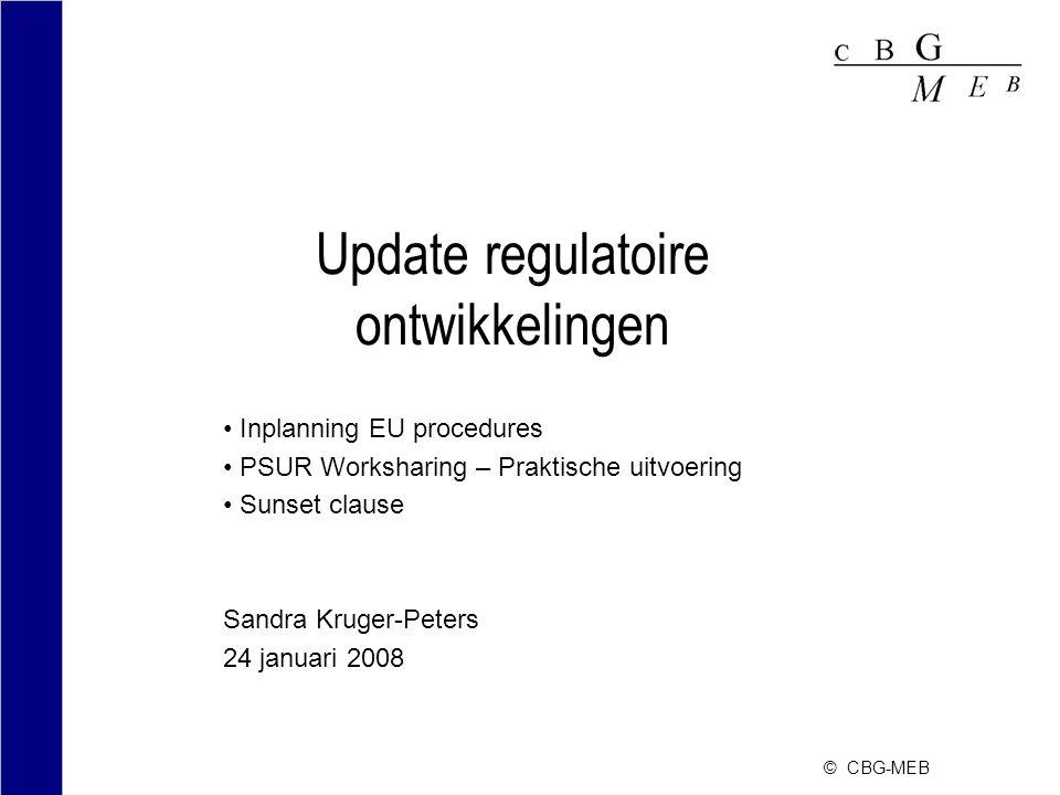 Update regulatoire ontwikkelingen