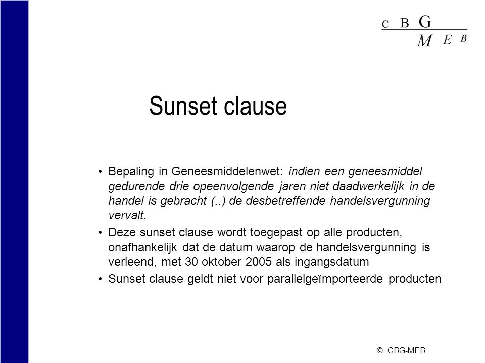 Sunset clause