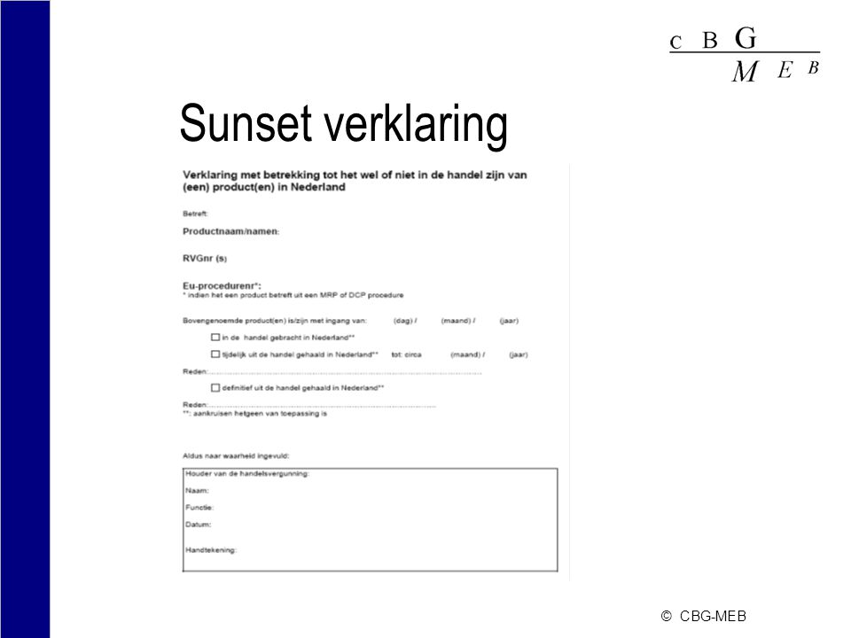 Sunset verklaring