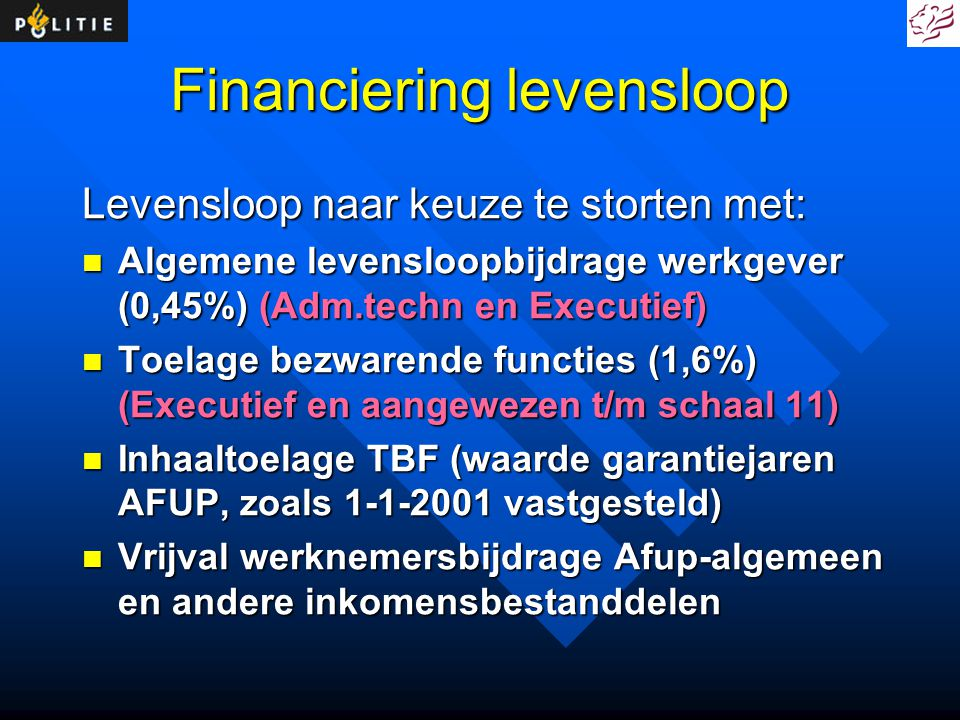 Financiering levensloop