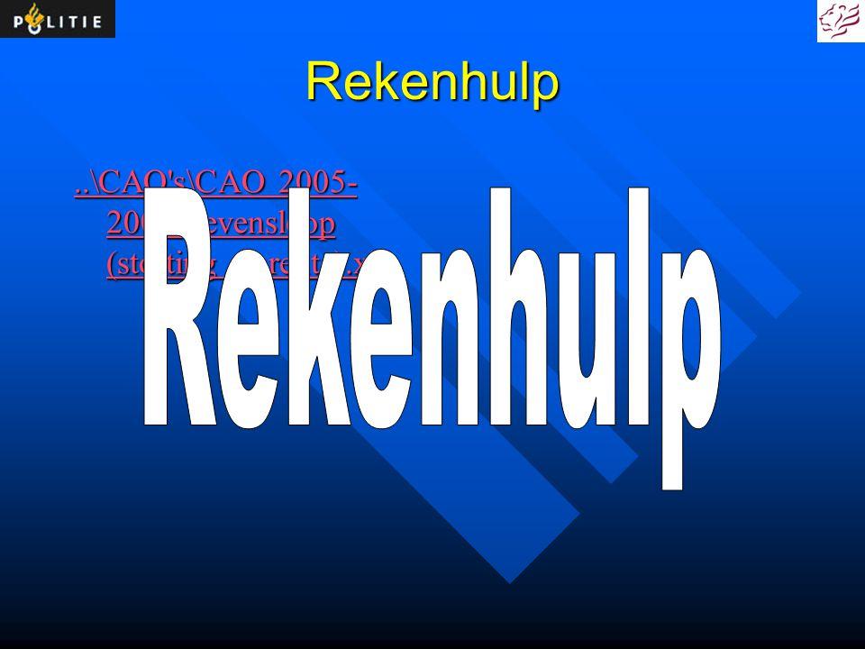 Rekenhulp ..\CAO s\CAO 2005-2007\Levensloop (storting en rente).xls Rekenhulp