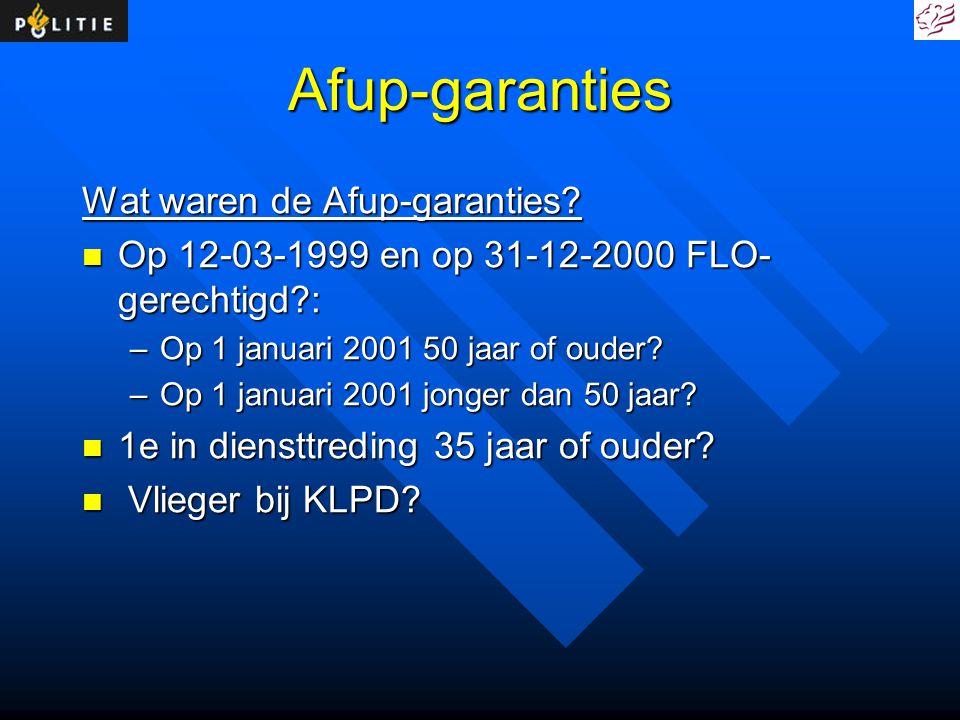 Afup-garanties Wat waren de Afup-garanties