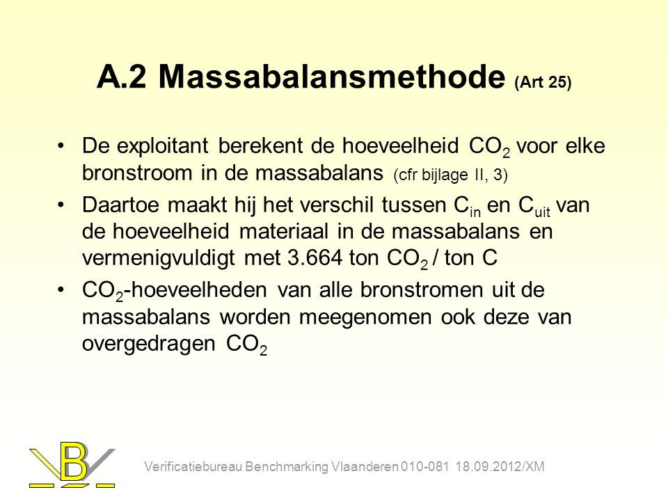 A.2 Massabalansmethode (Art 25)