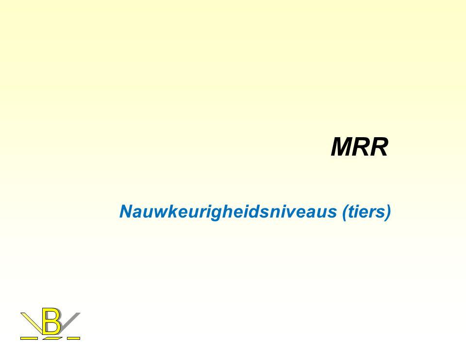 Nauwkeurigheidsniveaus (tiers)