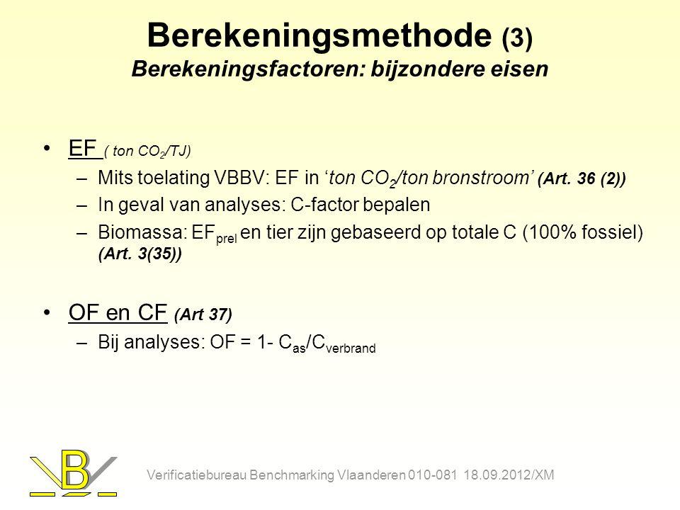 Berekeningsmethode (3) Berekeningsfactoren: bijzondere eisen