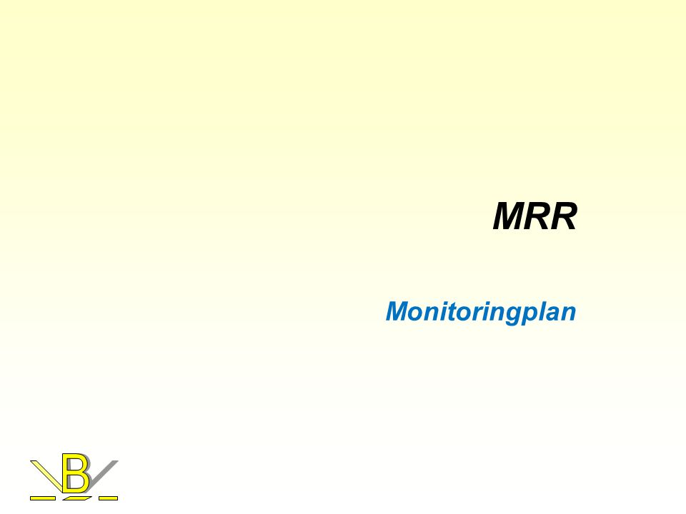 MRR Monitoringplan