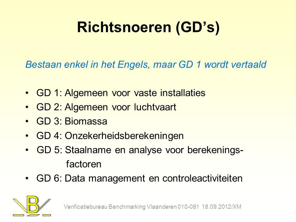 Richtsnoeren (GD's) Bestaan enkel in het Engels, maar GD 1 wordt vertaald. GD 1: Algemeen voor vaste installaties.