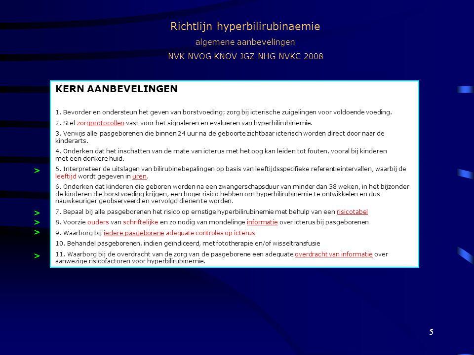 Richtlijn hyperbilirubinaemie