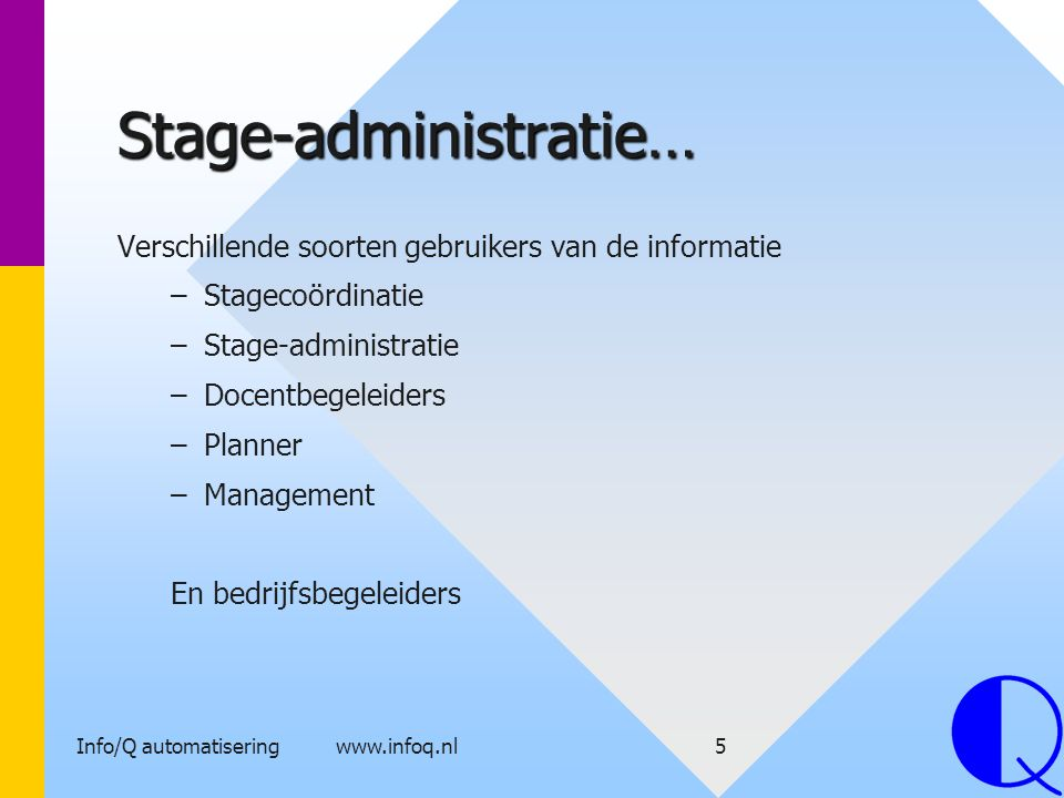 Stage-administratie…