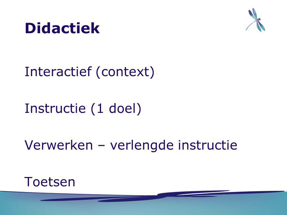 Didactiek Interactief (context) Instructie (1 doel)