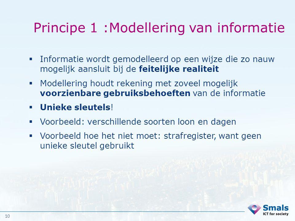 Principe 1 :Modellering van informatie