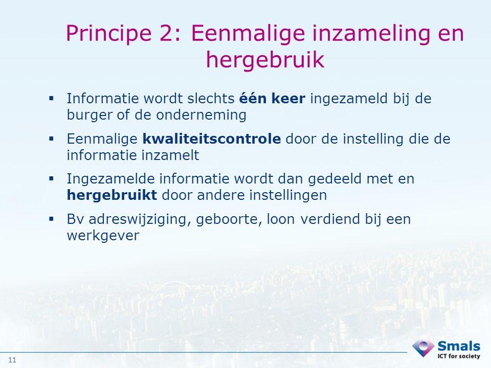 Principe 2: Eenmalige inzameling en hergebruik