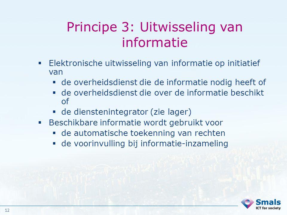 Principe 3: Uitwisseling van informatie