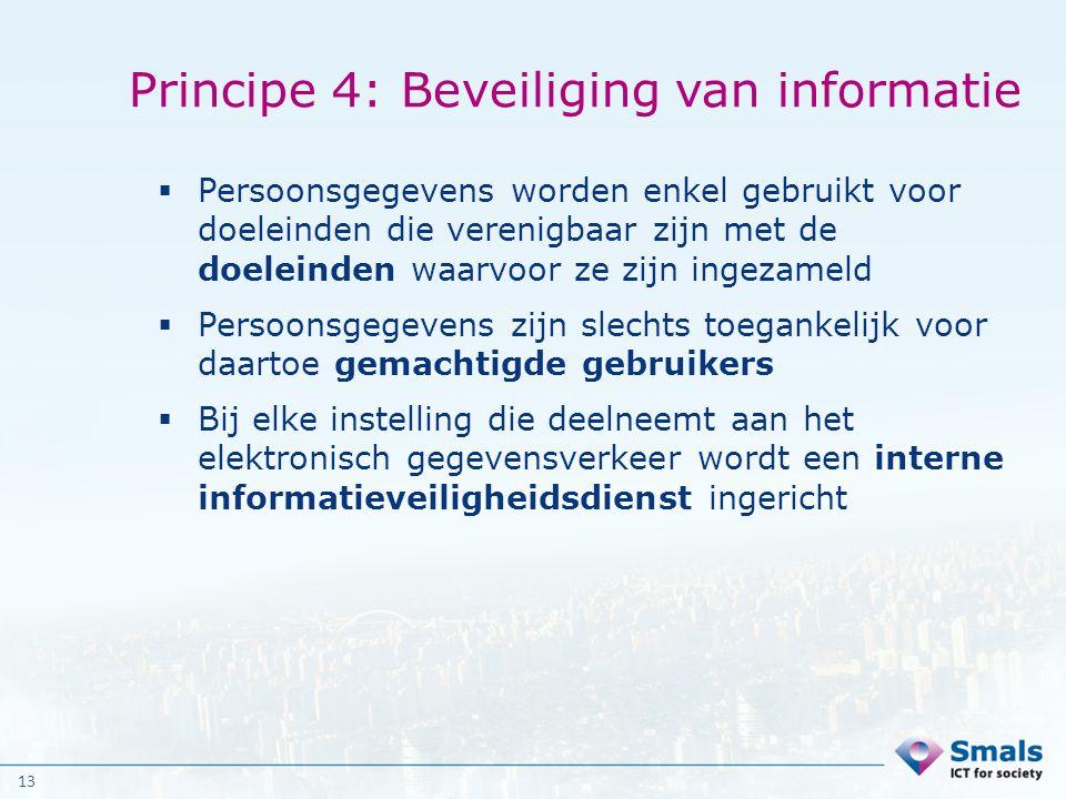 Principe 4: Beveiliging van informatie