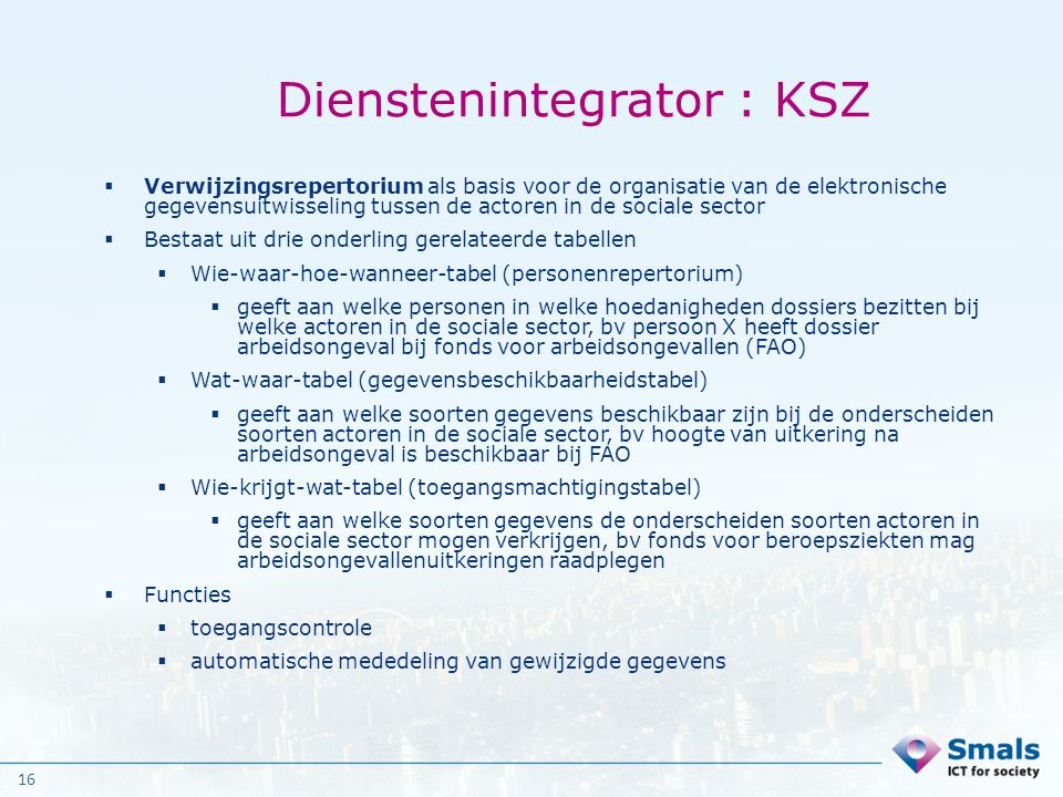 Dienstenintegrator : KSZ
