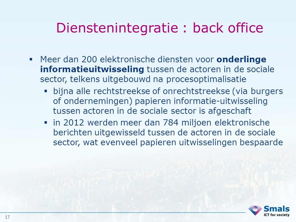 Dienstenintegratie : back office